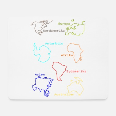 Continent Continents - Mouse Pad