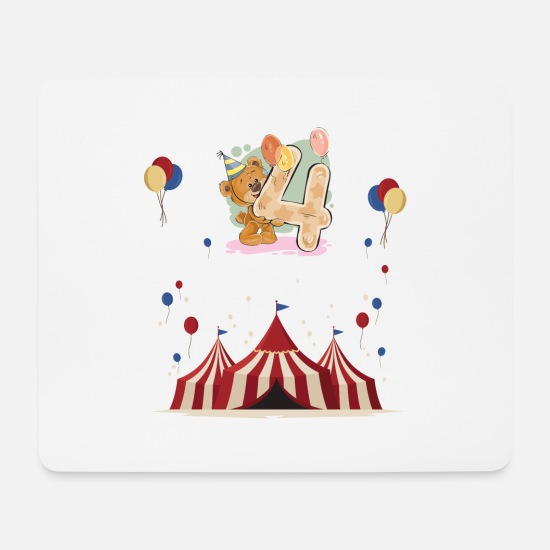 Birthday Mouse Pads - 4 Birthday Kids Birthday Gift Birthday - Mouse Pad white