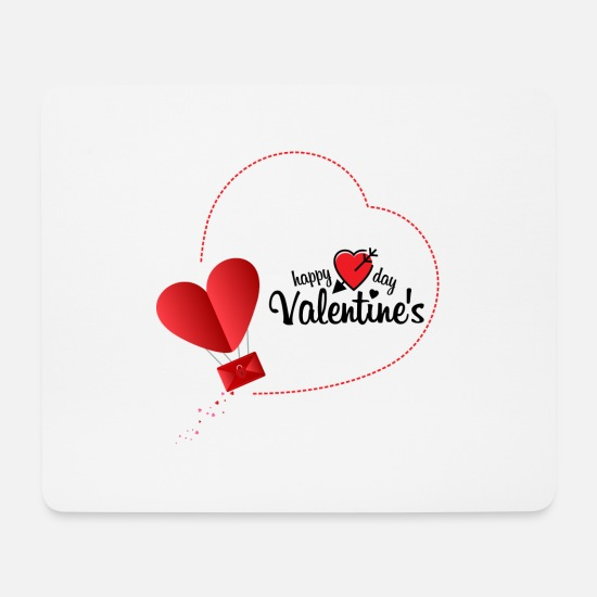 Day Tapis de souris  - Happy valentine's Day - Tapis de souris blanc