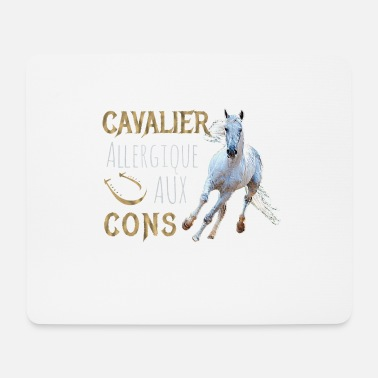 Cavaliere Shirt - Allergic to Cons - Horse - Mouse Pad