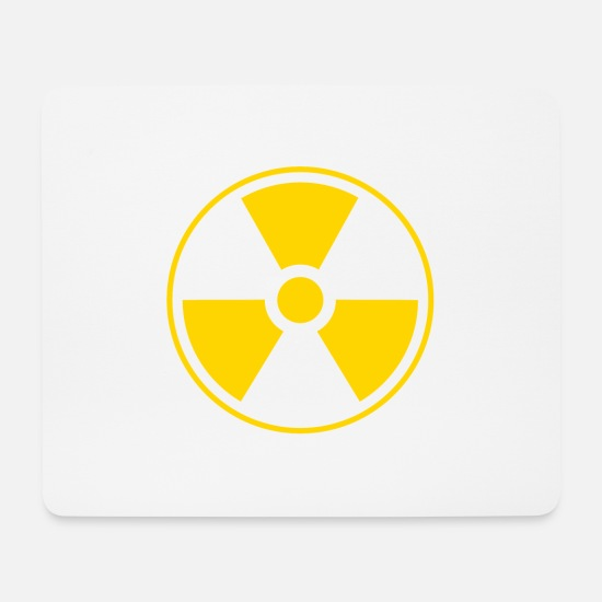 Toxic Mouse Pads - DANGER !!! - Mouse Pad white