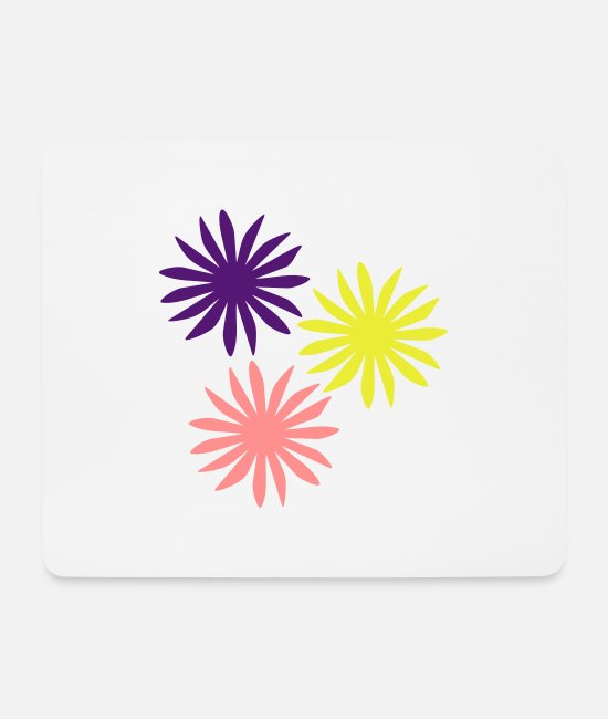 Spring Mouse Pads - flowers - Mouse Pad white
