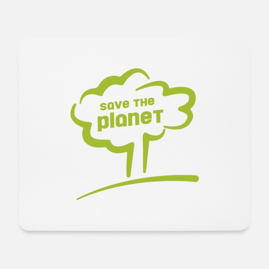 Planet Mouse Pads - save the planet - save the planet - Mouse Pad white