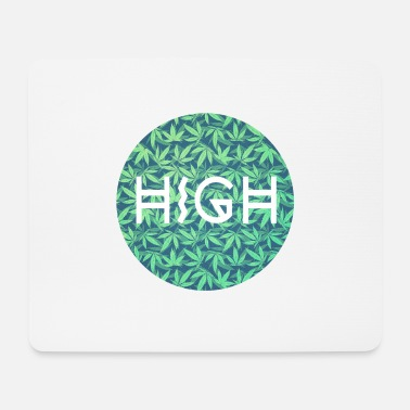 Ganjah HIGH / cannabis Hipster Typo - Pattern Design - Mouse Pad