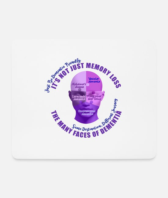 Vascular Dementia Mouse Pads - The Many Faces of Dementia - Mouse Pad white