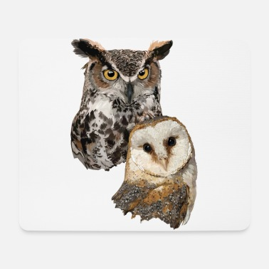 Belfry Barn Owl and American Owl - Mouse Pad