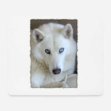 Husky in the frame - Mouse Pad