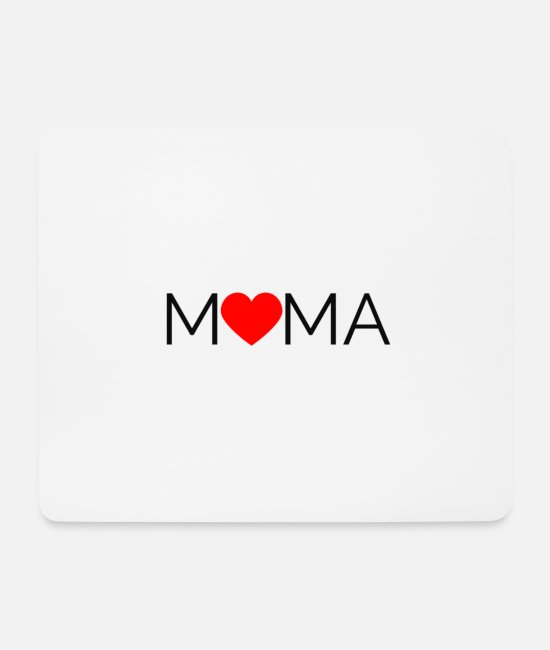 Pregnancy Mouse Pads - Mama: I love Mama design. Ideal gift for Mom - Mouse Pad white
