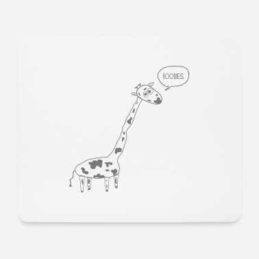 Naughty Giraffe - Mouse Pad