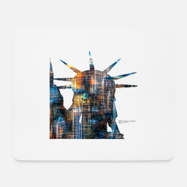 20120608 DSC 1330NYC Lady Liberty Downtown trans - Mouse Pad