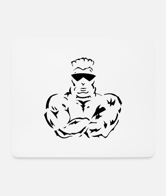 Exercise Mouse Pads - Gym Fitness - Mouse Pad white