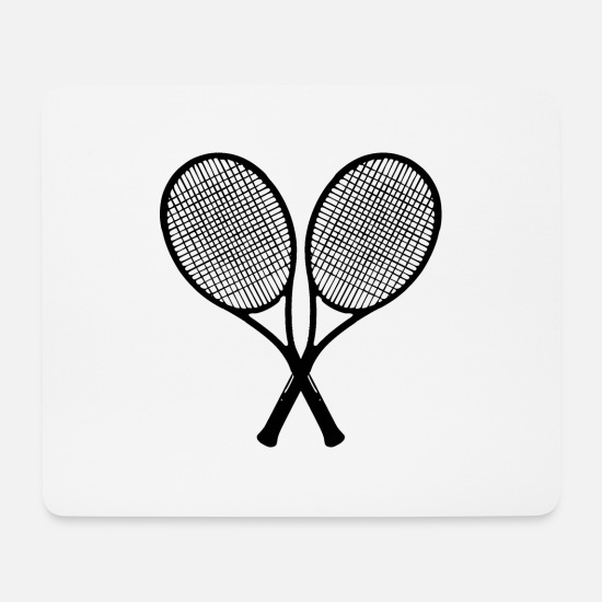 Tennis Player Mouse Pads - tennis racket - Mouse Pad white