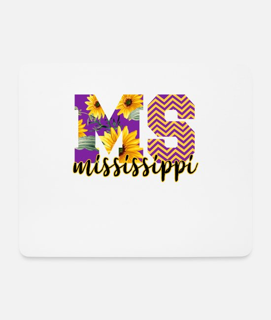 State Mouse Pads - Mississippi Alphabet - Mouse Pad white