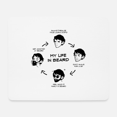 My Life in Beard Awesome Gift Men s T Shirt - Mousepad
