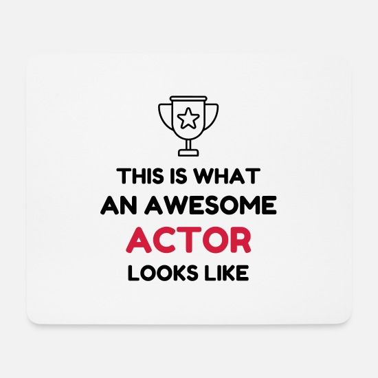 Actress Mouse Pads - Theater / Theatre / Actor / Theaterleute - Mouse Pad white