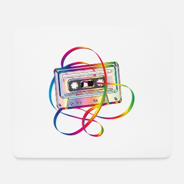 Band Salad stylish 80s music cassette with band salad - Mouse Pad