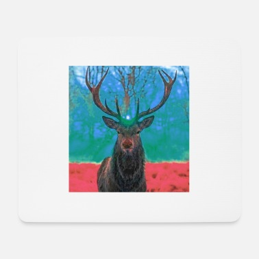 Sunrise in the antlers of the Stag - Mouse Pad