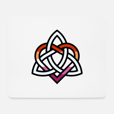 Celtic Knot Celtic Knot - Lesbian Heart - Mouse Pad
