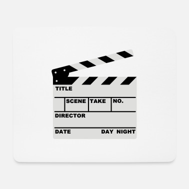 Clapperboard clapperboard (writable flex) - Mouse Pad