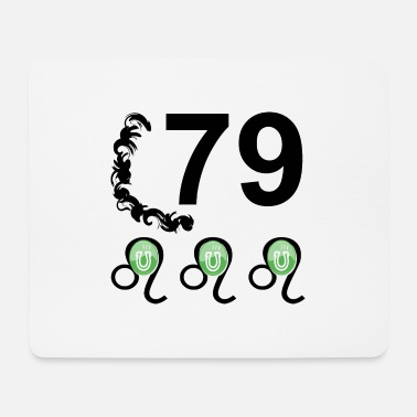 Lucky Number 79 years lucky number Happy birthday - Mouse Pad