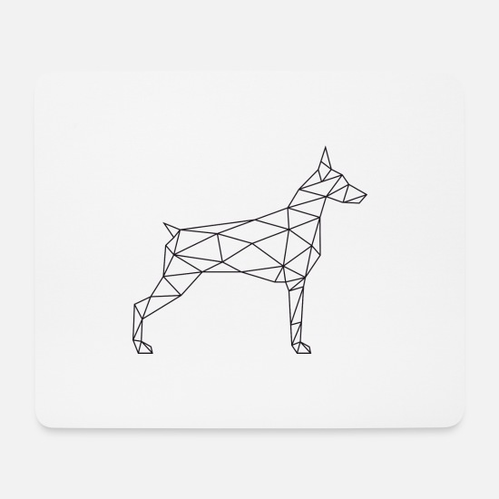 Geometric Mouse Pads - Geometric Doberman - Geometric Doberman - Mouse Pad white