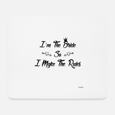 Bride Wedding bachelorette party marriage love gift - Mouse Pad