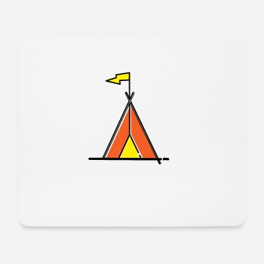 Tent - Clipart Icon I Camp I Youth camp - Mouse Pad