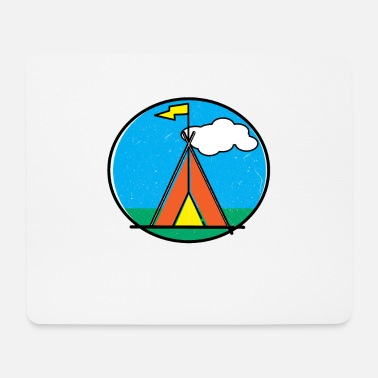 Tent on Meadow I Tent Camp I Camping I Scout - Mouse Pad