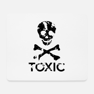 Grungy Grungy Warning Sign – Toxic - Mouse Pad