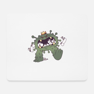 Virus eats toilet paper hamster purchases Funny - Mouse Pad