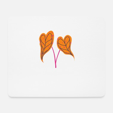 Fine Heart leaf heart leaf love gift - Mouse Pad