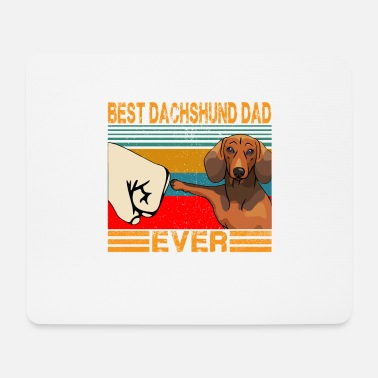 Caterpillar Best Dachshund Dad Ever Funny Cat Daddy Father Day - Mouse Pad
