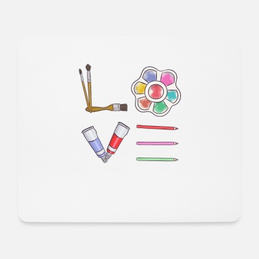 Art Artist Painting Draw Love Gift - Mouse Pad