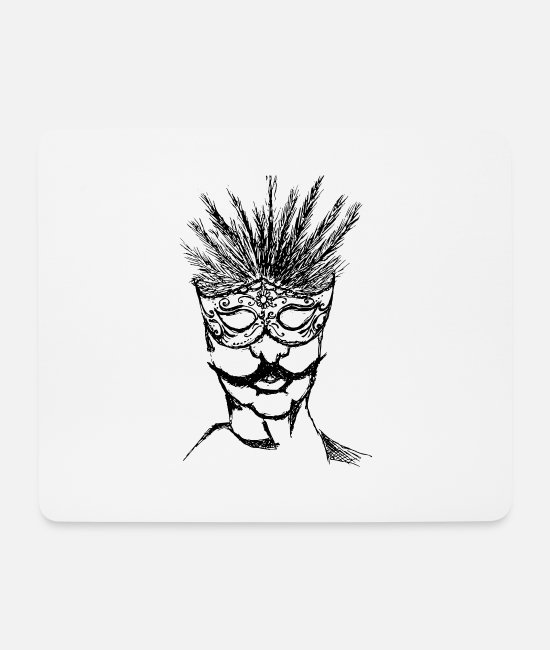 Ball Mouse Pads - cool mask gift shirt - Mouse Pad white