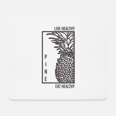 Healthy Live healthy eating healthy - Mouse Pad