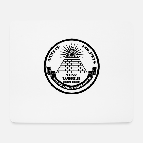 World Mouse Pads - New world order - Mouse Pad white