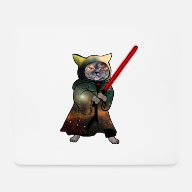 Cat Warrior | Funny cat shirt - Mouse Pad