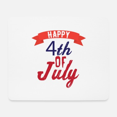 Us Happy 4th OfJuly - Mousepad (bredformat)