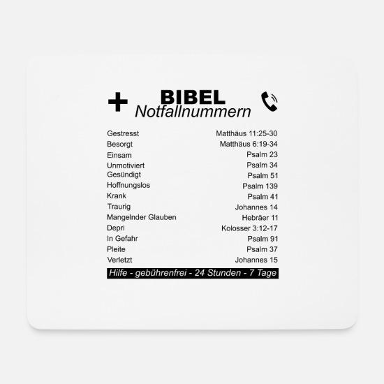 Bibel Bibelverse Christliche Sprüche Jesus Gott Mousepad Querformat Weiß