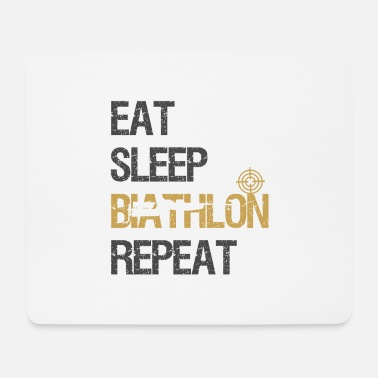 Zio Eat Sleep Biathlon World Cup Ski Shooting Gift - Tappetino per mouse (orizzontale)