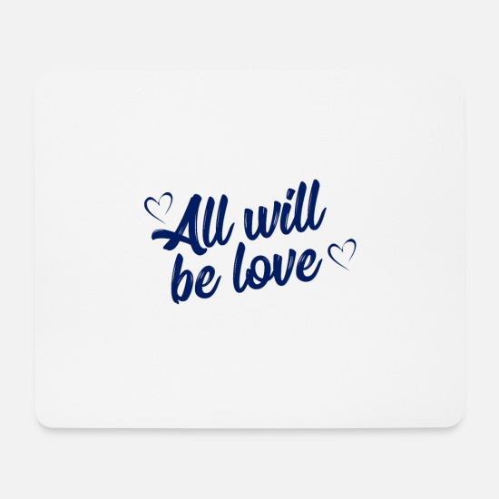 Love Mouse Pads - love - Mouse Pad white