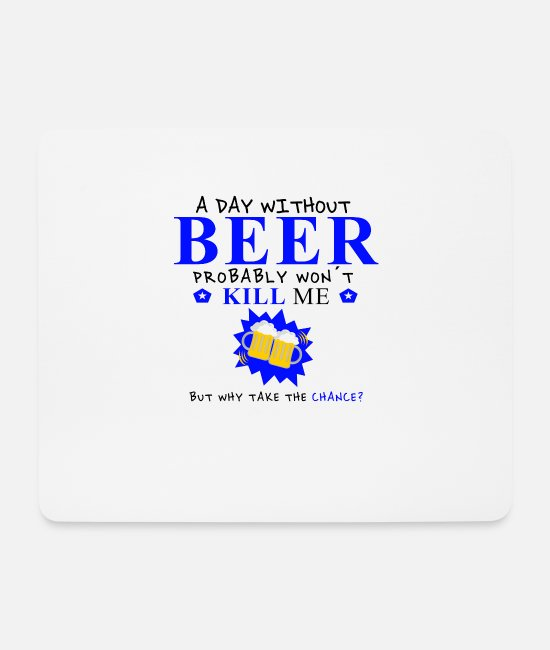 Christmas Mouse Pads - Beer drinker drinking beer drinking alcohol drinking - Mouse Pad white