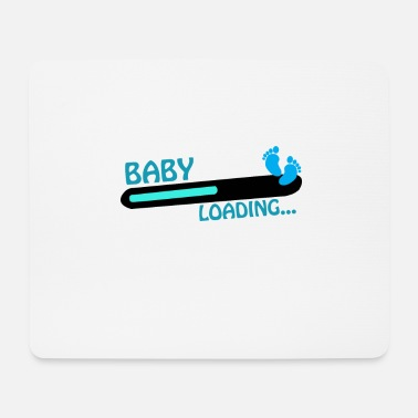 Baby Say baby loading with baby footprints - Mouse Pad