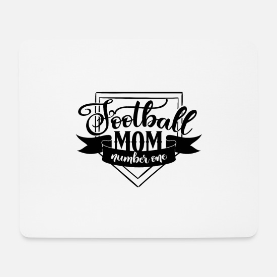Birthday Mouse Pads - Football mom number one - Mouse Pad white