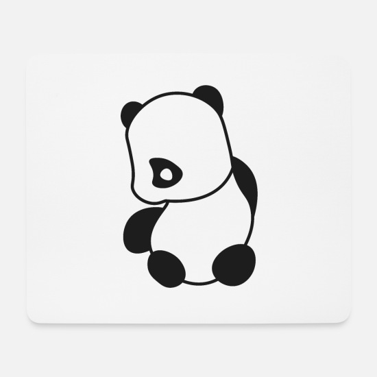 Romantisch Mousepads  - Panda Emo Looking Sad - Mousepad Weiß
