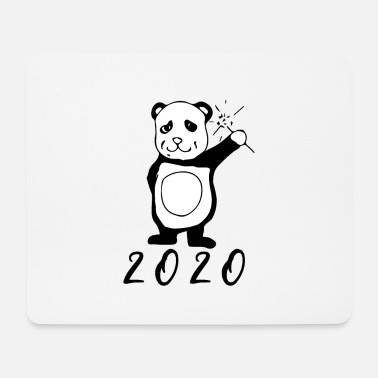 2020 Happy New Year Panda sparkler New Year's Eve - Mouse Pad