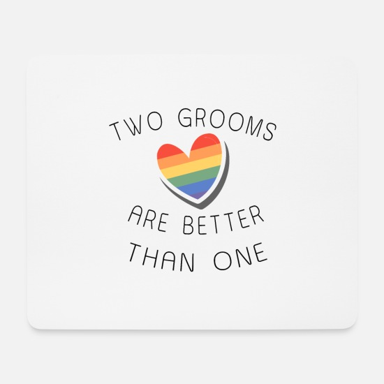 Gift Idea Mouse Pads - Gay marriage gift - Mouse Pad white