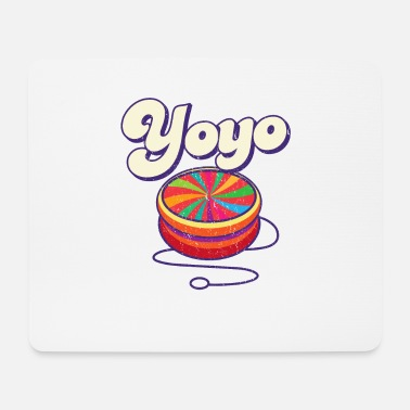 Trendy 70's Yoyo Colorful Retro Vintage - Mouse Pad