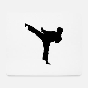 High kick to the left - Mouse Pad