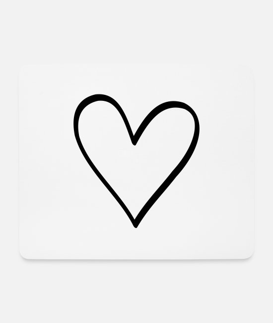 Love Mouse Pads - Heart symbol love friendship life gift - Mouse Pad white